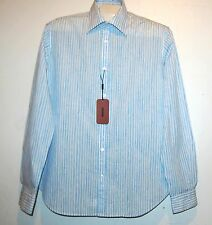 Missoni Men's Blue Stripes Button Italy Casual Shirt Size US 44 EU 54 $225