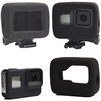 Black Windshield Foam Noise Reduction Housing Cover Case For GoPro Hero 8 Camera