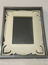 Wood Gallery 11x9 White photo picture frame Glass