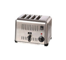 CHEFMASTER 4 SLOT TOASTER 1800W FOUR SLICE STAINLESS STEEL COMMERCIAL 1.8kW