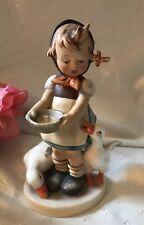 Vintage Hummel Figurine 197/1 Be Patient Girl feeding Ducks Full Bee Tmk-2