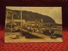 1920'S. FISHING VILLAGE. JACK FISH, LAKE SUPERIOR. C.P.R. POSTCARD.