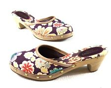 Missoni MARE Mules Clogs Heels Floral Size 35 US 5