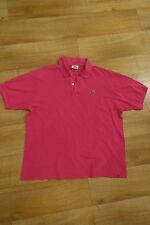 Lacoste men original polo shirt size 6 XL pink rose
