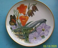 1978 Beautiful Franklin Sierra Club Plate California Wildflowers/ Butterfly