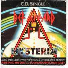 Mega Rare Def Leppard 4 Track Hysteria 1987 CD LEPCD3 card case