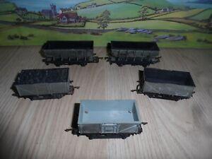 5 MODEL RAILWAYS OO GAUGE HOPPER WAGONS & COAL WAGONS HORNBY DUBLO TRIANG TRIX