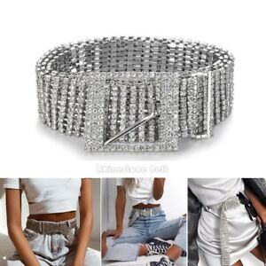 Women Bride Crystal Rhinestone Diamante Waist Dress Charm Belt Waistband HOT