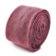 Frederick Thomas dark pink skinny linen tie FT1806