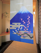 JAPANESE Noren Curtain NEW FUJI MOUNTAIN UME PLUM  MADE IN JAPAN