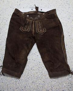Spieth & Wensky Trachten Lederhose Größe 56 Wildbock Kniebund Jagdhose L071