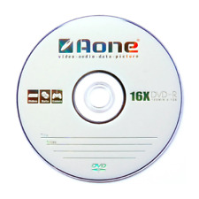 50 x Aone DVD-R Discs White Scratch Proof In Disc Sleeves 16x 4.7GB 120min