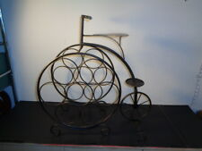 "Rare Metal Tricycle Shape Wine Rack (21 by 18 by 9"")"