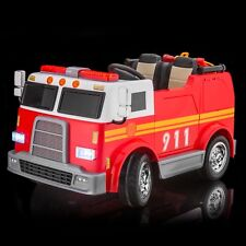SPORTrax Big Rig Rescue Kid's Ride On 4WD Fire Vehicle w/FREE MP3 - Red