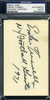 Emlen Tunnell Psa/dna Signed 3x5 Index Card Autograph Authentic