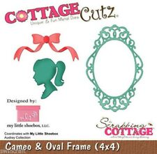 Cottage Cutz muore 3d DIE incl. rilascio Schiuma Cammeo Cornice Ovale & cc-mls-4x4-002 *