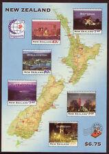 NEW ZEALAND 1995 NIGHT LIGHTS MINIATURE SHEET UNMOUNTED MINT, MNH