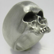 MJG STERLING SILVER UBER SKULL RING @ 46 GRAMS. BIKER. GUITAR PLAYER. KEITH. S12