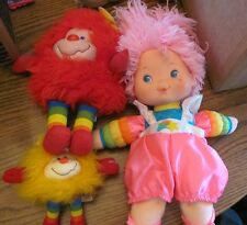 Rainbow Brite lot of 8 plush 4 Sprites & 4 Dolls Baby Tickled Pink Patty O'Green