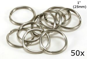 "Stainless Steel Key Rings 1"" (25mm) Split Ring, Wholesale LOT 50"
