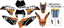 KTM STICKERS KIT GRAFICHE ENDURO DHL FACTORY EXC 08/11 SX 07/10 78008190000