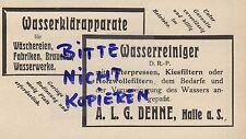 HALLE/SAALE, Werbung 1911, ALG. Dehne Wasser-Reiniger Wasser-Klärapparate Filter