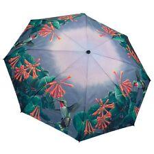 Galleria Hummingbirds Honeysuckle Automatic Open Close Folding Umbrella Brolly