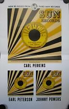 """Carl Perkins / Earl Peterson / Johnny Powers - Re-Issues Mint- Poster 17""""x11"""""""