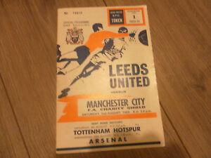 1969 CHARITY SHEILD LEEDS UNITED V MANCHESTER CITY    2