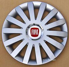 """Adornos de Plata 15"""" rueda, Tapacubos, cubre para caber Fiat Punto, Stilo (cantidad 4)"""