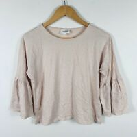 Seed Heritage Womens Top Size XS (AU 6-8) Nude Pink Boho Sleeves Lovely Top