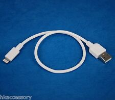1ft 30cm SHORT QUICK Charger ONLY USB cable WHITE for iPad Air 2 4 mini 3 Retina