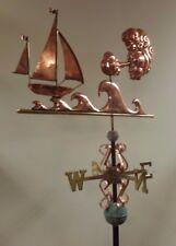 Beautiful copper Stormy seas weathervane, COMPLETE SETUP + mount