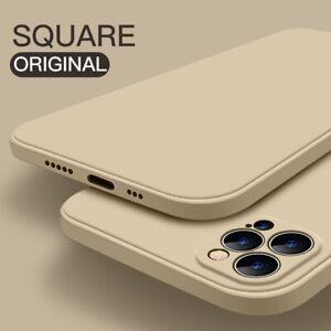 Case For iPhone 12 Mini 11 Pro Max XR XS 8 7 + Square Liquid Silicone Soft Cover
