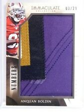 2014 Immaculate Collection Anquan Boldin 4clr jumbo patch #D03/29 *49372