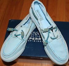 $75 SPERRY TOP-SIDER BAHAMA 2-EYE WASHED LT BLUE SHOES SZ 5M US
