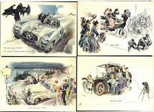 4 Modern Postcards depicting MERCEDES-BENZ Cars. Free UK Post