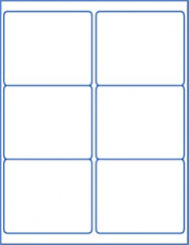 """(Jar Labels 4"""" x 3.33"""") 3-1/3 can stickers blank white"""