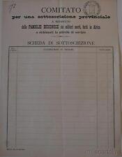 1945 MANTOVA  Sottoscrizione per le famglie dei caduti in Africa