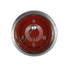 classic instruments red steele speedster series oil pressure gauges for metrodel