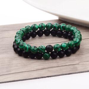 Couple Distance Bracelet Malachite Matching YinYang Lover Energy Lucky Bracelets