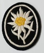 WWI WW2 German Elite Hand sewn Edelweiss mountain climber patch w RZM tag
