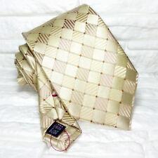 Cravatta Jacquard cuciture rosse 100% seta Nuova Made in Italy marca TRE