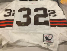 RARE JIM BROWN Autographed Signed 1964 Throwback Browns  M&N Jersey LE 132 UDA