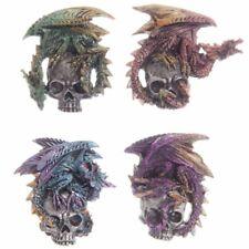 Magnet Kühlschrankmagnet Dark Legends Silver Skull Dragon Totenkopf Drachen