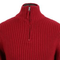 Vintage ROBERTO CAVALLI Woolen 1/4 Zip Jumper |  Sweater Pullover Knitted Wool