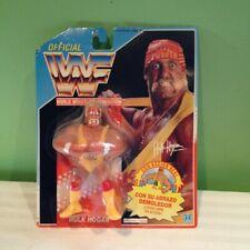 WWE WWF Hasbro  Hulk Hogan Hulkster Hug WWE  FOREIGN CARD Spain FREE SHIPPING