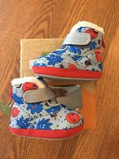 NIB BOGS BOOTS BABY BOGS 2 0-6 Month Blue Gray Leaves EUR 18