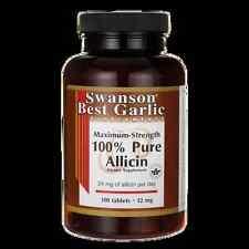 Swanson Maximum-Strength 100% Pure Allicin 12 mg 100 Tabs