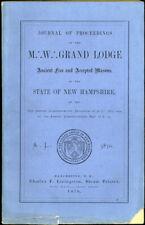 Freemasons. Grand Lodge of New Hampshire: Journal of Proceedings. 1870